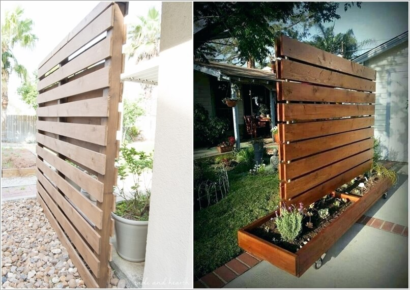 Privacy Screens Made With Recycled Pallet Wood That Are Low Cost Options