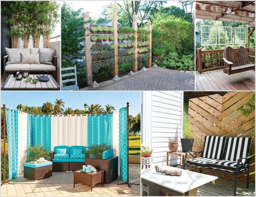15 diy outdoor privacy screen ideas for Cheap garden privacy ideas