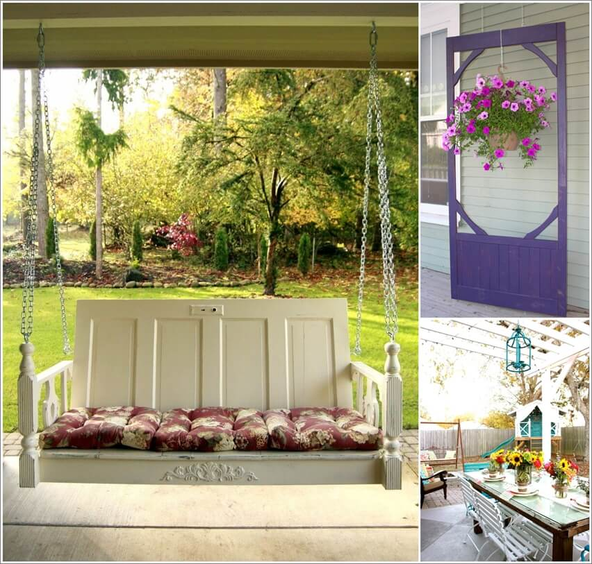 Ideas To Decorate Your Patio Or Garden With Old Doors