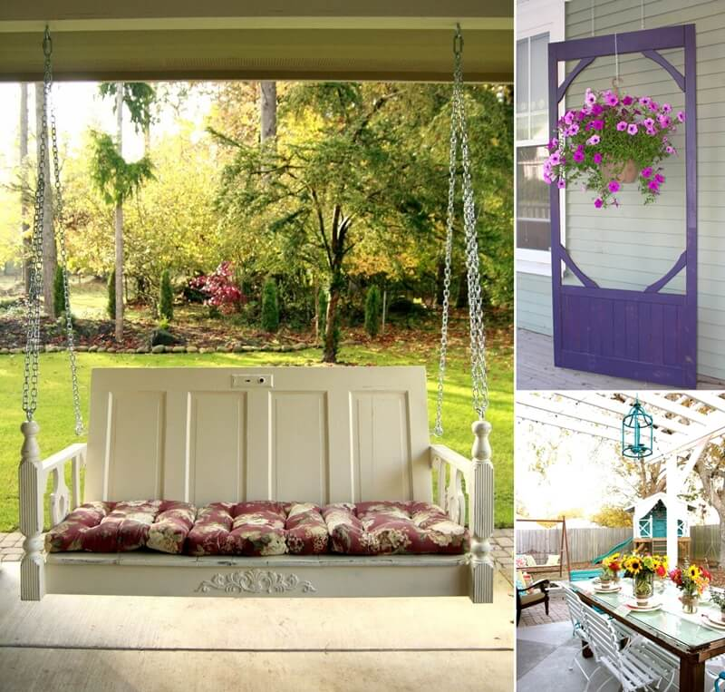 Home Design Ideas Decorating Gardening: Ideas To Decorate Your Patio Or Garden With Old Doors
