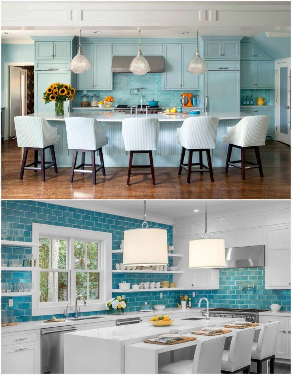 Ways to Decorate a Kitchen with Blue-Green