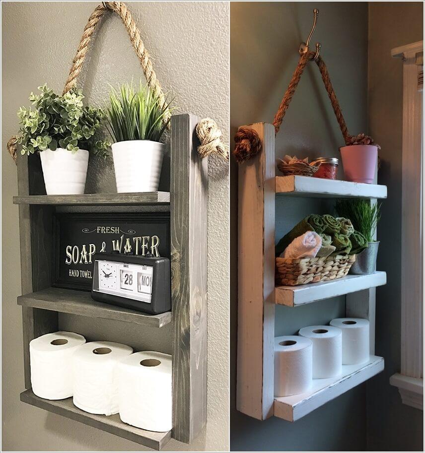 Wonderful Rustic Storage Ideas For Your Bathroom