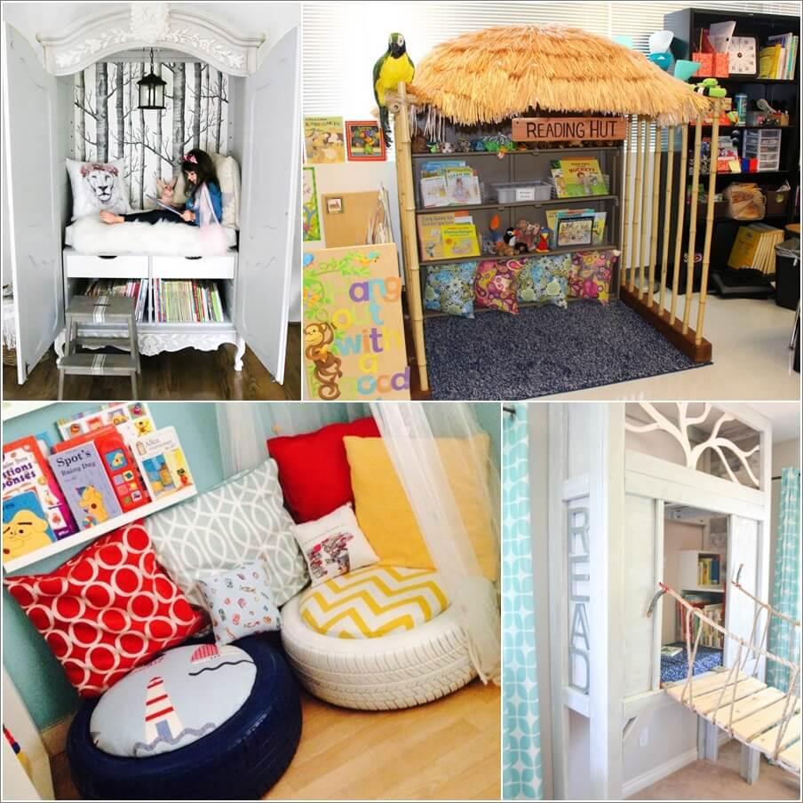 10 unique ways to design a kids reading nook