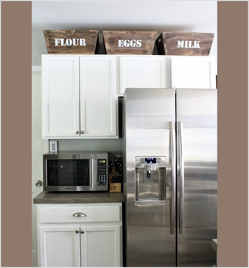 Space Above Kitchen Cabinets: Utilize The Space Above The Kitchen Cabinets