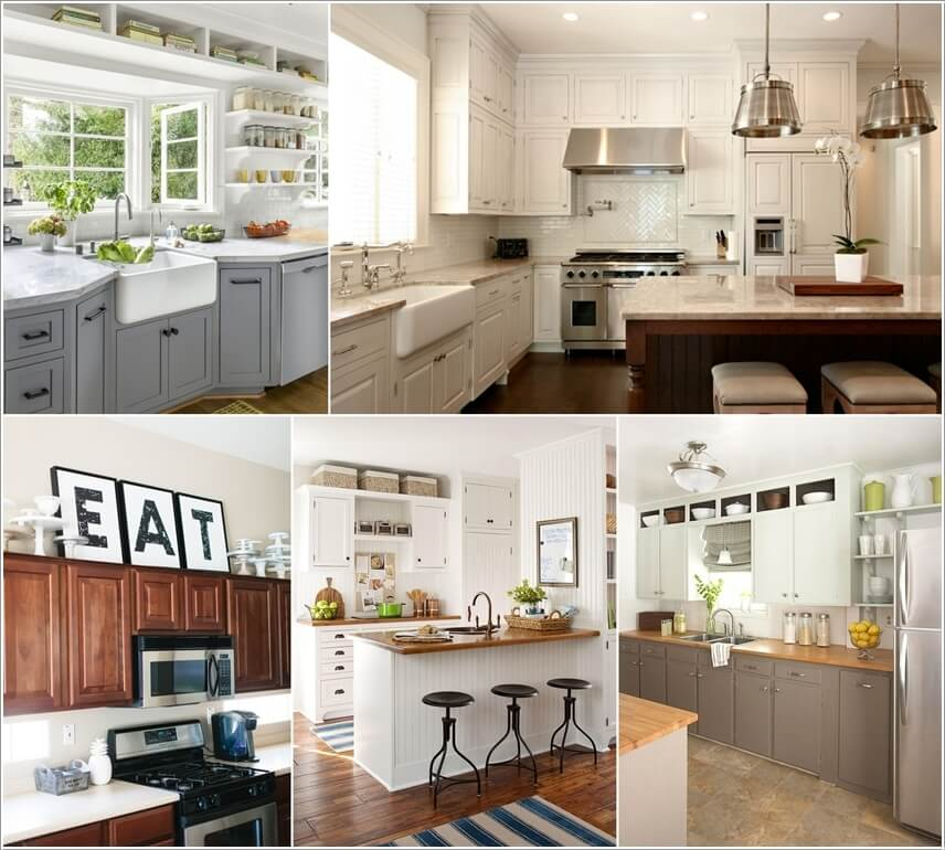 Decorating Space Above Kitchen Cabinets: Utilize The Space Above The Kitchen Cabinets