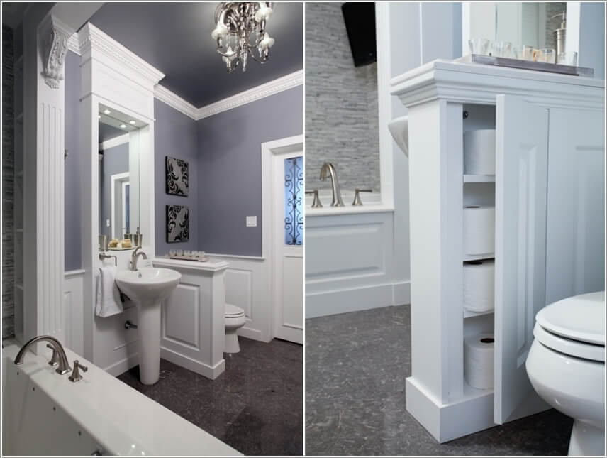 Superieur Carve Out A Storage Inside The Half Wall If You Have One In Your Bathroom