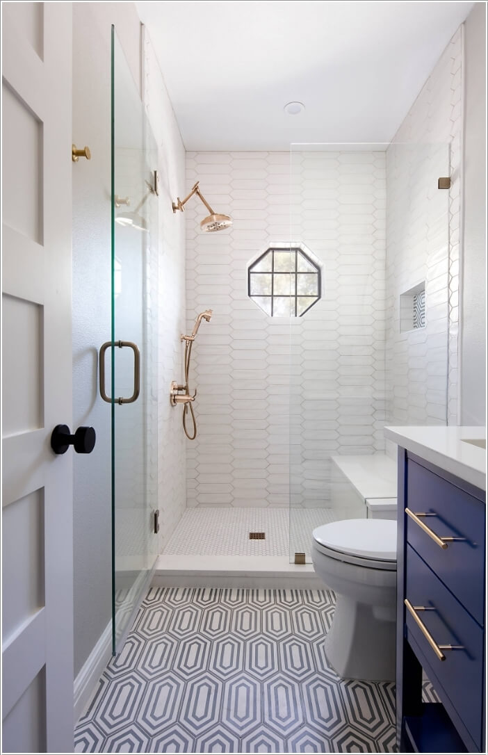Provide The Shower Enclosure With A Seat That Has Secret Storage