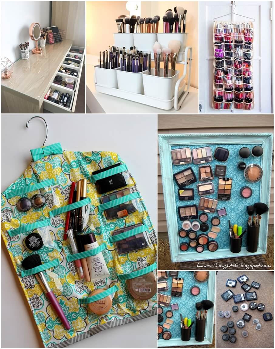 11 Clever DIY Makeup Storage Ideas