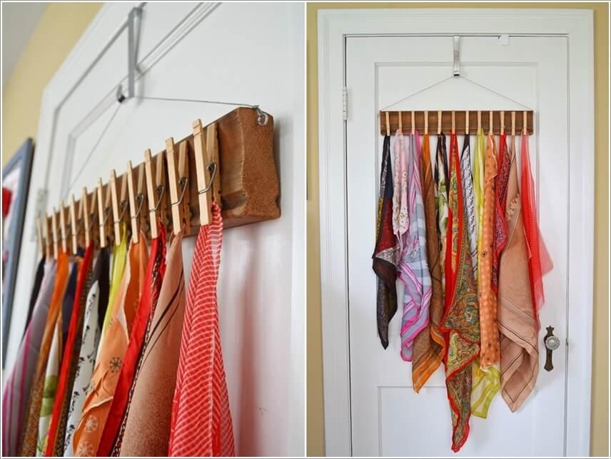 15 Clever DIY Scarf Storage Ideas