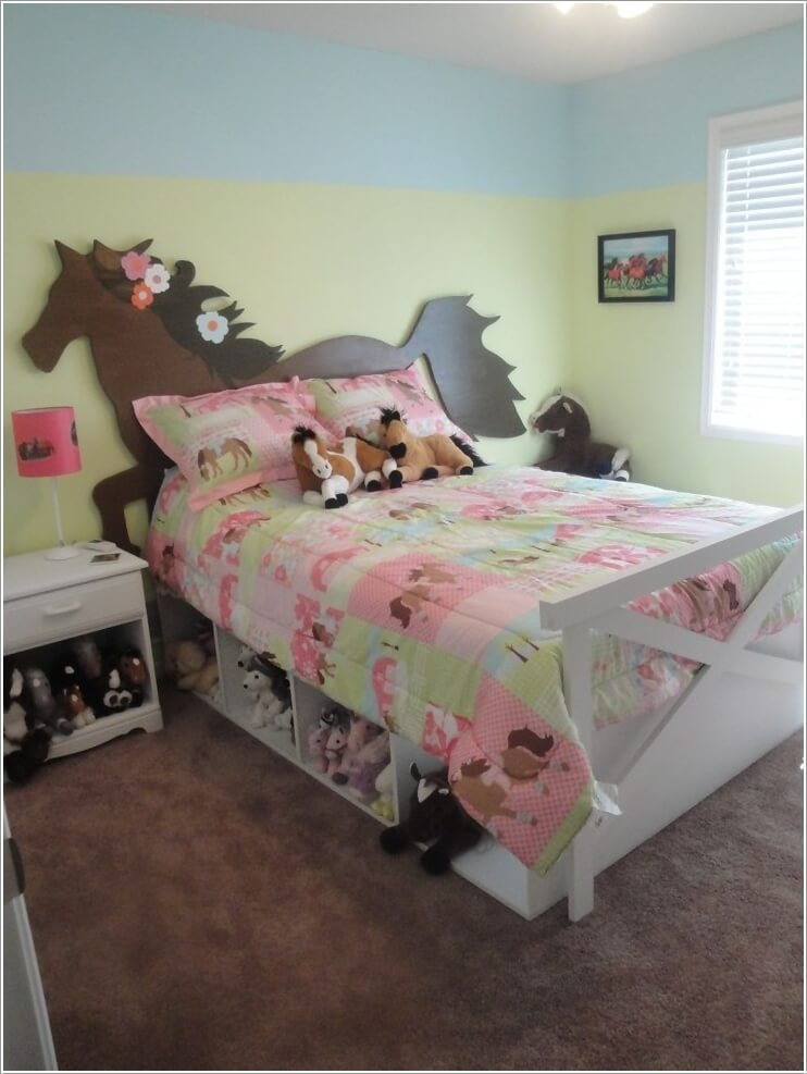 super cute horse kids bedroom decor ideas