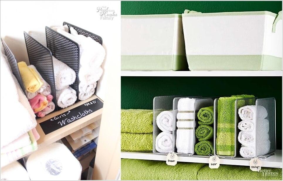 10 Clever Linen Closet Storage Hacks