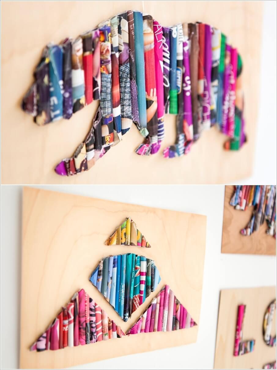 DIY Kids Room Paper Wall Art Ideas