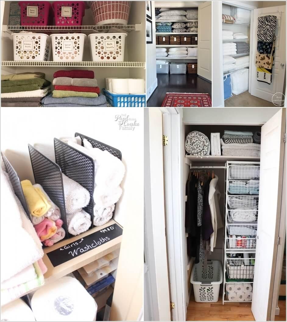 Picture of: 10 Clever Linen Closet Storage Hacks