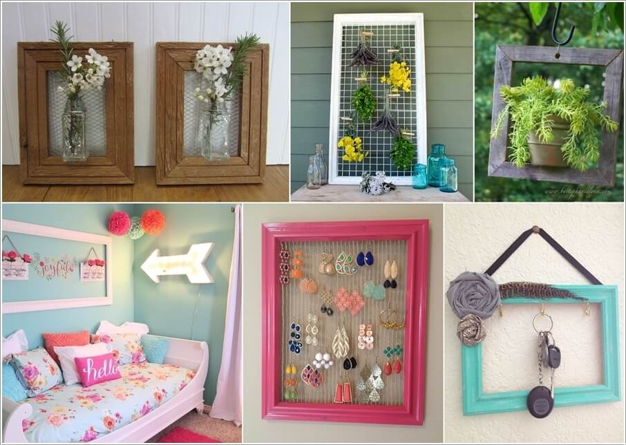 Home Decor Ideas with Empty Picture Frames