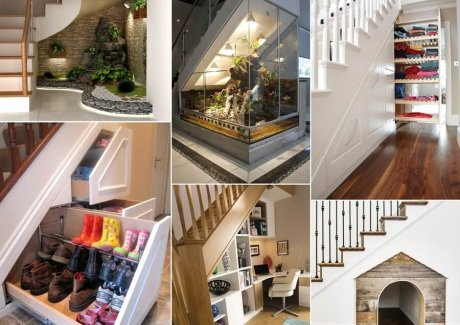 10 Ideas for The Space Under The Stairs