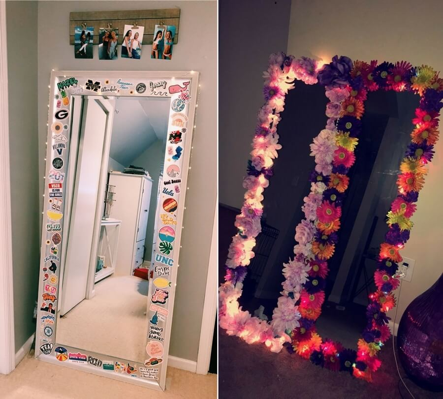 Fun Diy Mirror Border Ideas