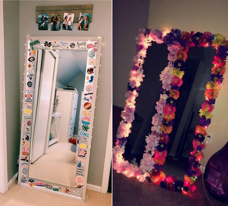 Fun Diy Mirror Border Ideas