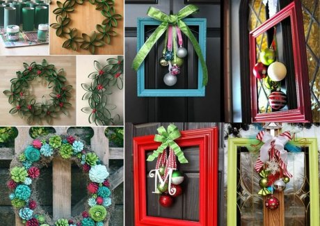 Unique Christmas Door Wreath Ideas