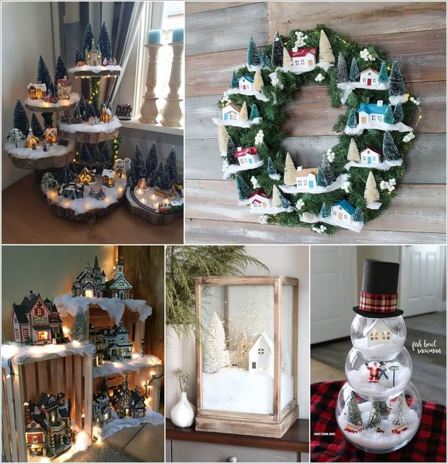 Christmas Village Display.Creative Christmas Village Display Ideas