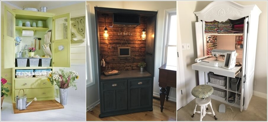 Clever DIY Armoire Recycle Ideas