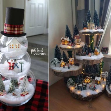 Creative Christmas Village Display Ideas