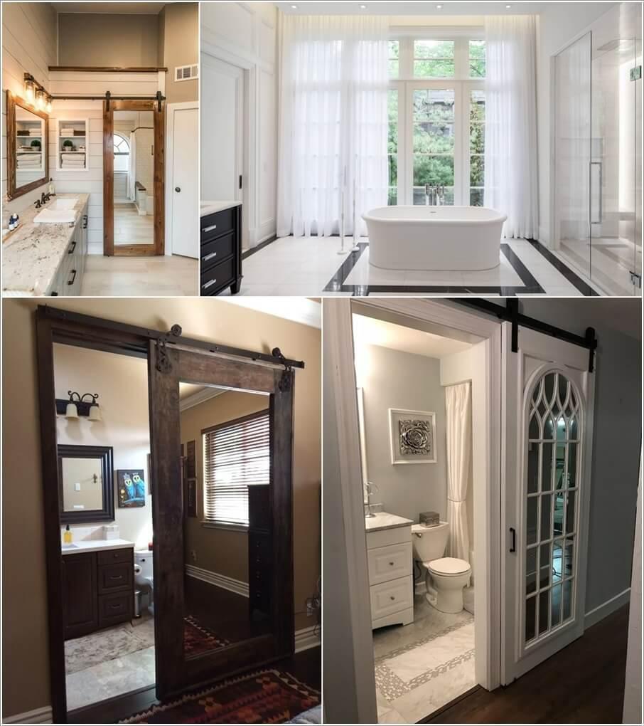 10 Wonderful Bathroom Door Ideas