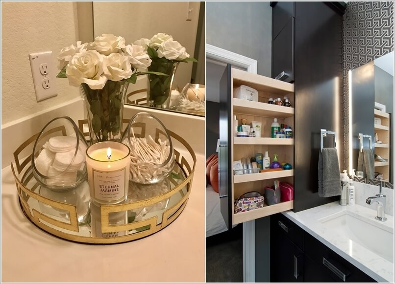 Clever Bathroom Countertop Storage Ideas