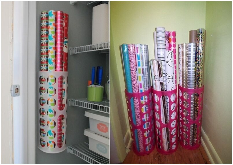 Gift Wrap Storage Ideas