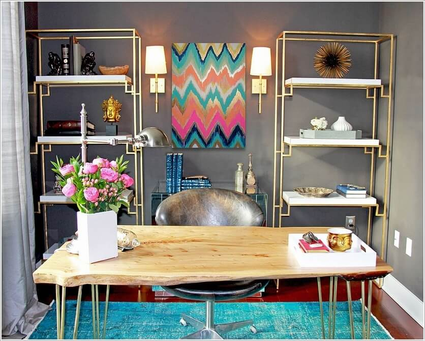 How to Bring Cheer to a Home Office