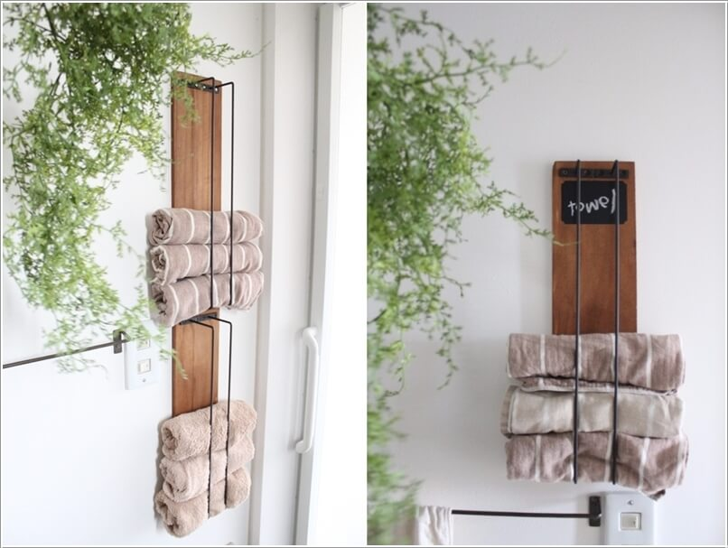 diy towel holder