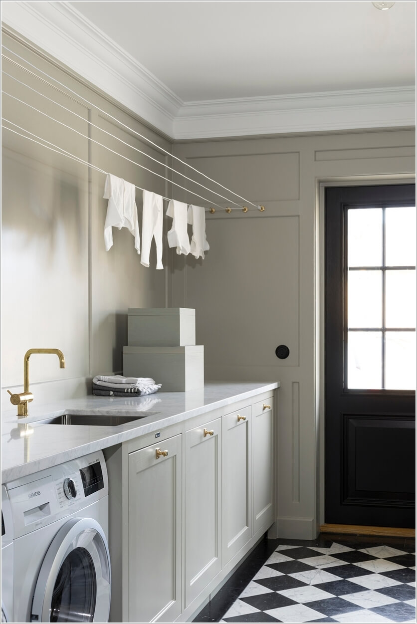 10 Clothes Hanging Solutions for a Laundry Room