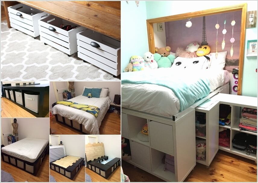 DIY Under Bed Storage Ideas