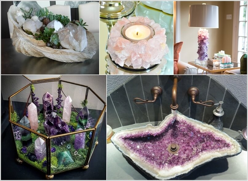 Ideas to Decorate with Crystals and Minerals