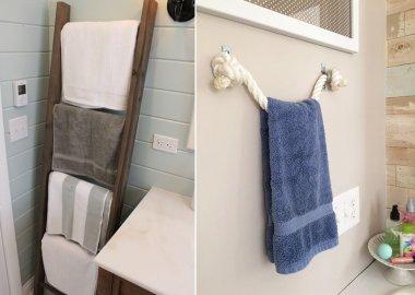 diy towel holder