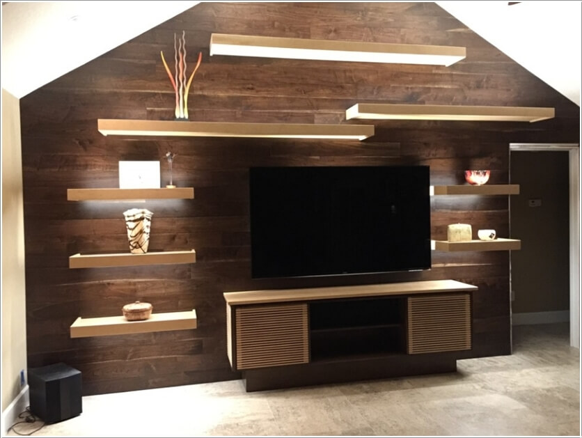 Living Room Wood Accent Wall