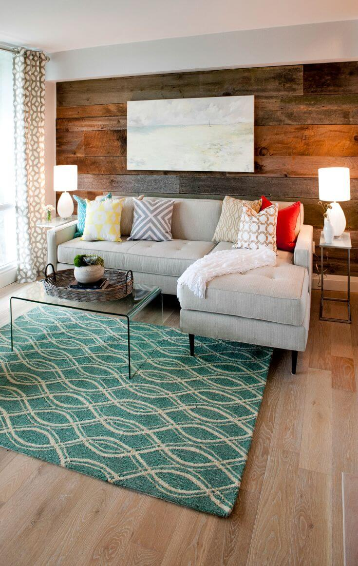 How To Decorate A Living Room With A Wood Accent Wall