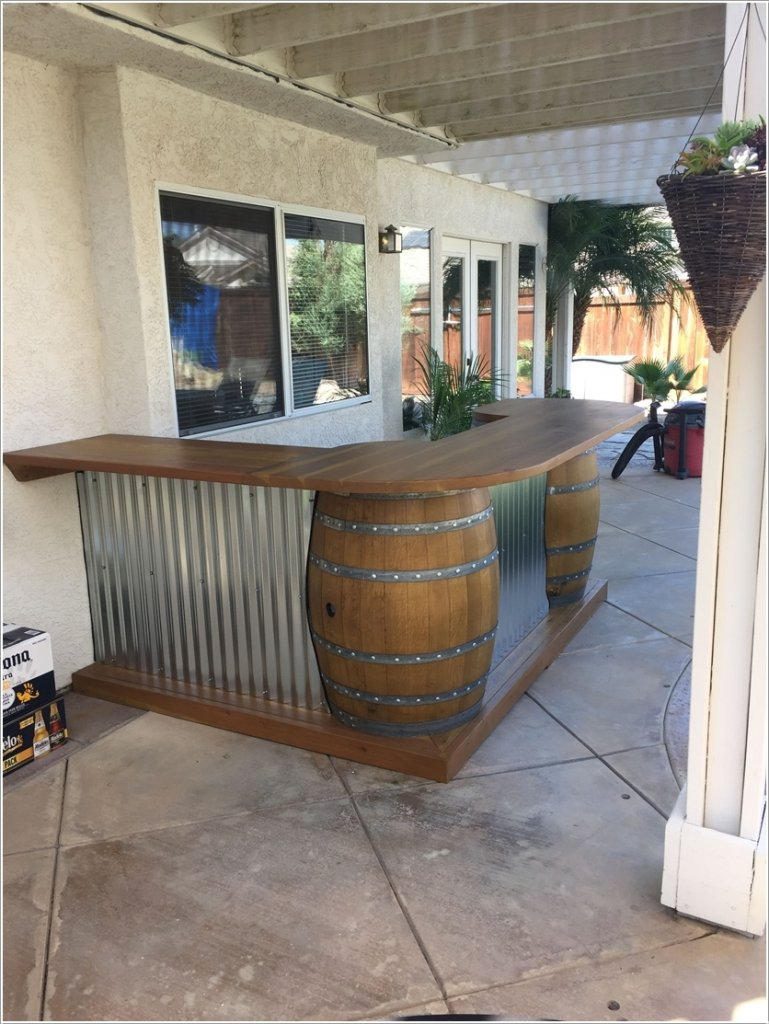 diy outdoor bar