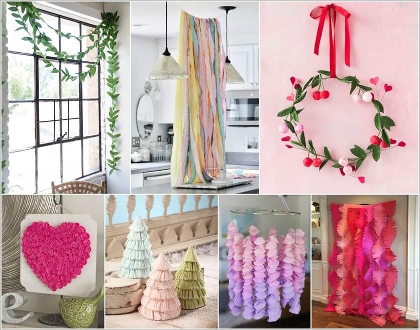 15 Diy Crepe Paper Decoration Ideas