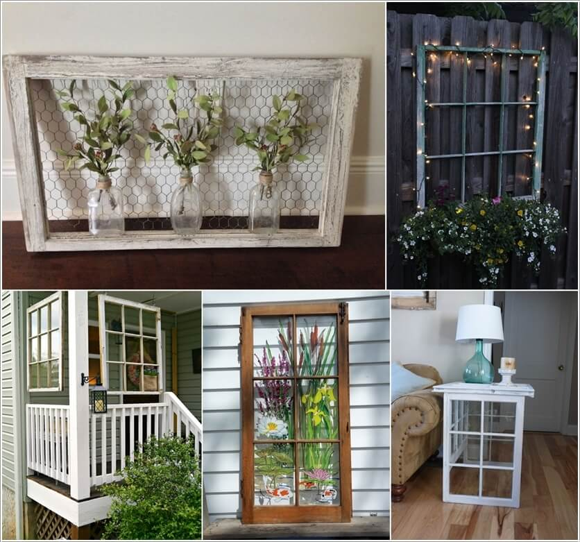 DIY Ideas To Decorate With Old Window Frames