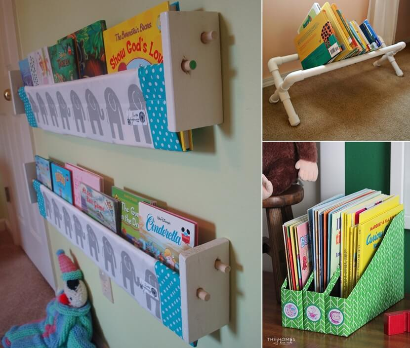 DIY Kids Book Storage Ideas