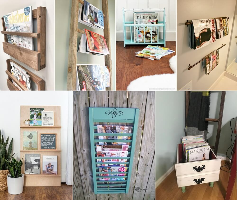 DIY Magazine Rack Ideas