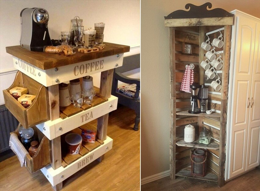 Diy Coffee Bar Ideas From Recycled Objects