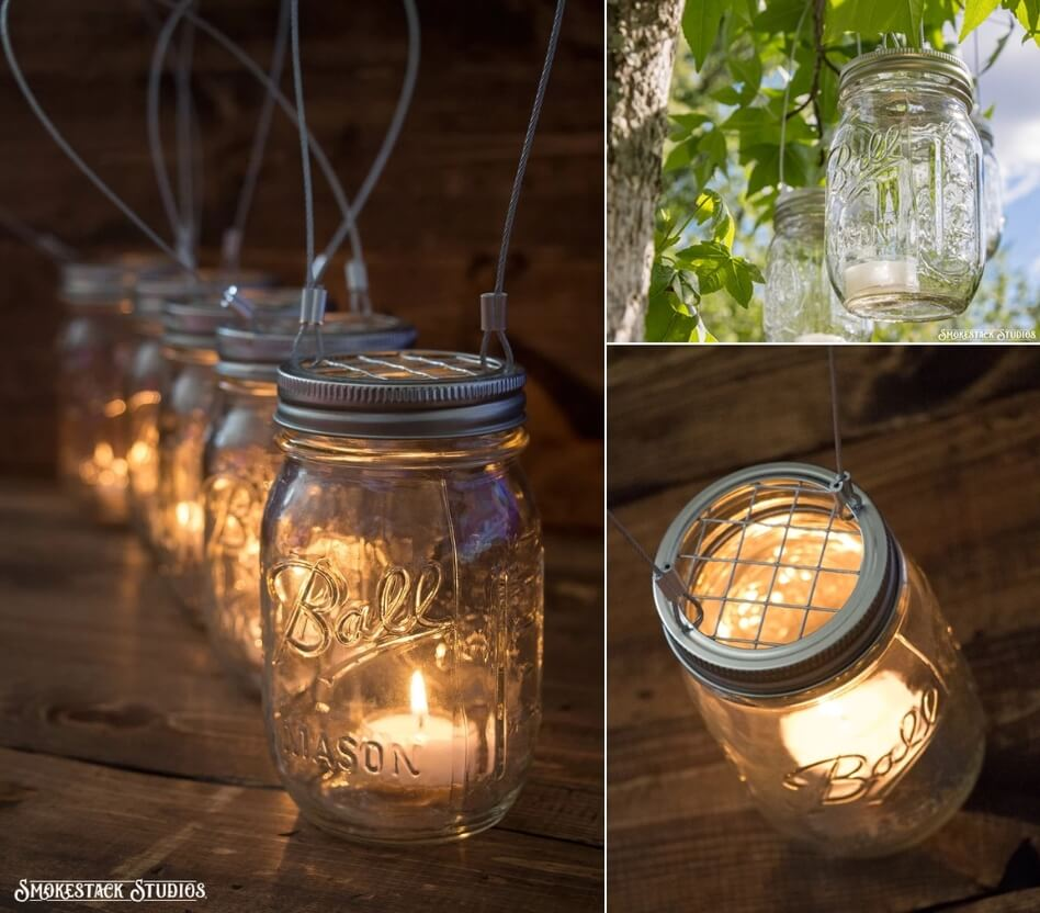 diy outdoor candle holder