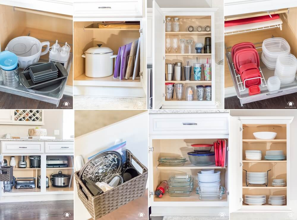 kitchen cabinet organization hacks