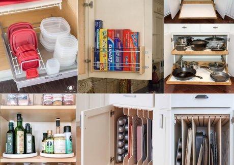 kitchen cabinet organization hacks