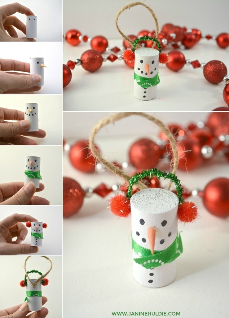 DIY Snowman Ornament Ideas