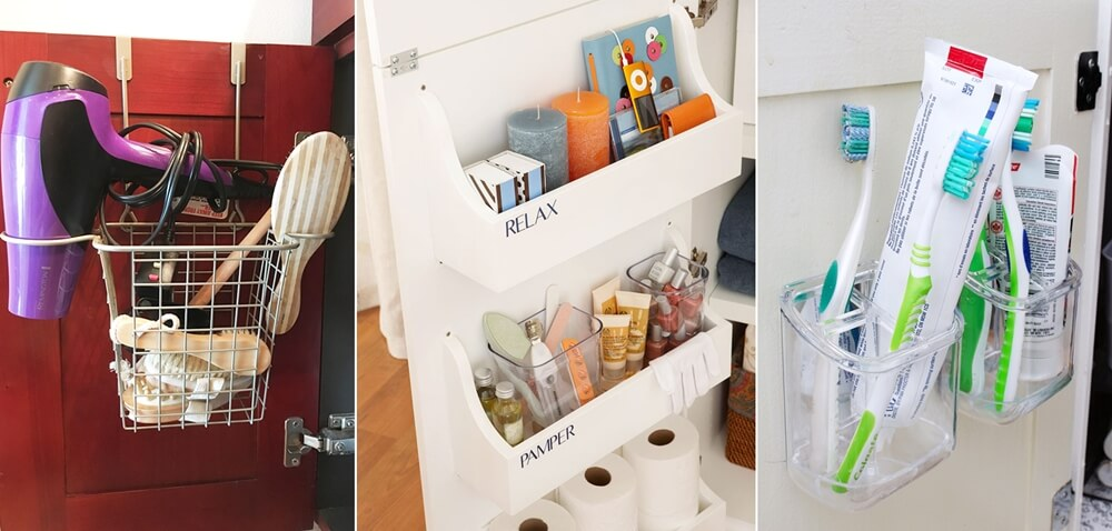Bathroom Cabinet Door Organization Hacks