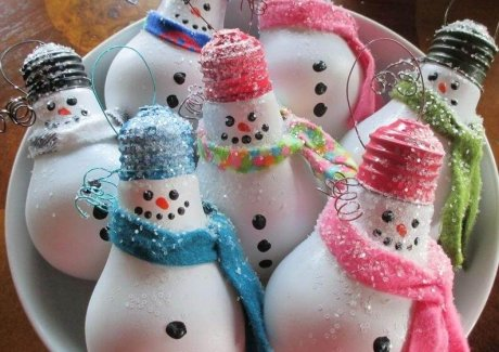 DIY Snowman Ornament Ideas