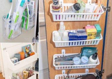 Bathroom Cabinet Door Organization Hacks
