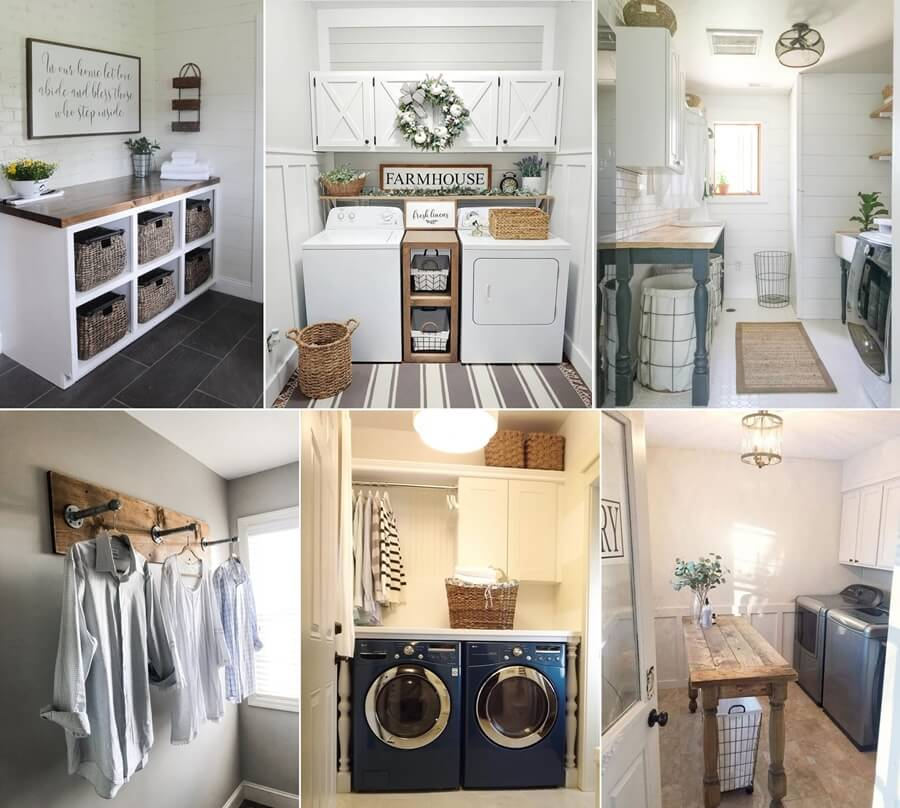 Farmhouse Style Laundry Room Decor Ideas